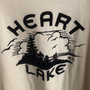 "Jcrew ""Heart Lake"" flocked tshirt Sz XXL"